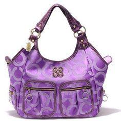 cccdbb54673 Coach Bags Kristin Signature Sateen Shoulder Purple. Monica Jackson · Now  THAT S a bag!