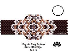 peyote ring pattern,pdf-download,DIY,#034RS,beading pattern,ring pattern,ring shape pattern,pdf pattern,pdf file,digital file