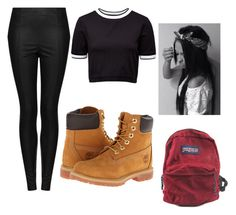 """""""Untitled #10"""" by jasmine-o28 ❤ liked on Polyvore featuring beauty, Topshop, Timberland, French Connection and JanSport"""