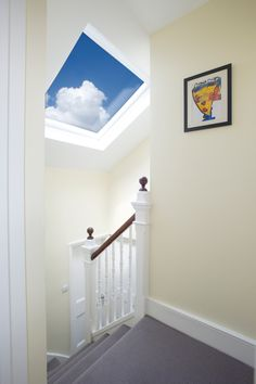 Love the roof window. Great for getting as much natural light in as possible