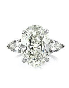 5.83ct Oval Cut Diamond Three-Stone Engagement Ring