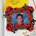 Ladybug Photo Magnet Craft Kit. Spring crafts for children.