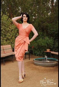 Pinup Couture Ava Dress in Tangerine ... Tried to buy it ... twice  and so far I am failing but I will keep trying!