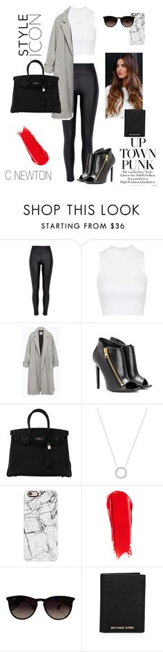 """Neutral - Airport Style"" by cielonewton on Polyvore featuring moda, River Island, Topshop, Zara, Tom Ford, Hermès, Michael Kors, Casetify, NARS Cosmetics y Ray-Ban"