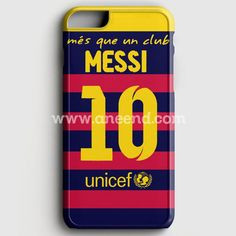 Lionel Messi FC Barcelona Jersey case provides a protective yet stylish shield between your Iphone 6 Plus/6S Plus and accidental bumps, drops, and scratches. Features slim and lightweight profile, pre