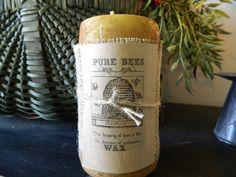 Handmade Organic Bees Wax Candles