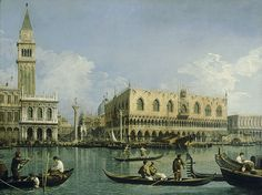 View of the area of St Mark's Square from the Dogana (Canaletto)