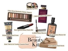"""""""last minute beauty kit"""" by timeak ❤ liked on Polyvore featuring beauty, Urban Decay, NARS Cosmetics, La Bella Donna, Dolce&Gabbana, Hotel Collection, William Morris, Jouer, Pré de Provence and Anna Sui"""