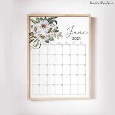 Printable Wall Calendar 2021 Watercolor Calendar 2021 | Etsy Wall Calender, Calendar, Printable Planner, Free Printables, Feather Wall Art, Copy Print, Christian Wall Art, Floral Wall, African Art