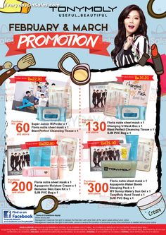 1 Feb 2015 Onward: TonyMoly Outlets Promotion 2015