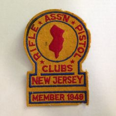 Gun club patch by MiddleCoveAntiques on Etsy
