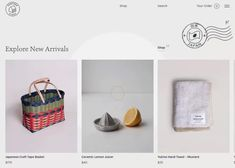 Provider Store - Slow made Japanese homewares e-commerce website for web design inspiration added by Awwwards to ecommerce, minimal, clean, shopping cart, product page Creativity And Innovation, Web Design Inspiration, Page Design, Ecommerce, Japanese, Website, Cart, Minimal, Store
