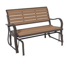 Lifetime 60055 Glider Bench, 4 Feet, Faux Wood