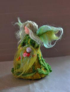 Needle Felted Wool  Garden Fairysoft by darialvovsky on Etsy, $48.00