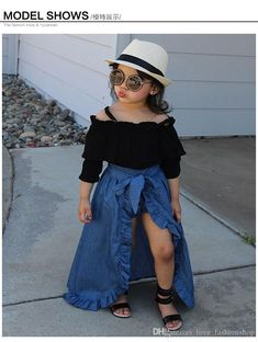 New baby fashion toddlers girl outfits ideas Cute Little Girls Outfits, Dresses Kids Girl, Kids Outfits Girls, Shorts For Girls, Cute Baby Outfits, Girls Denim Dress, Cute Baby Dresses, Stylish Baby Girls, Kids Girls