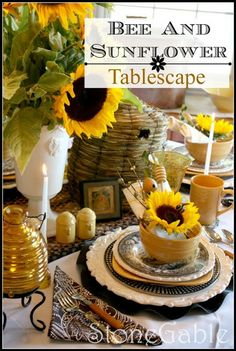 Late Summer/Early Fall Tablescape (1) From: Stone Gable Blog (2) Follow On Pinterest Stone Gable