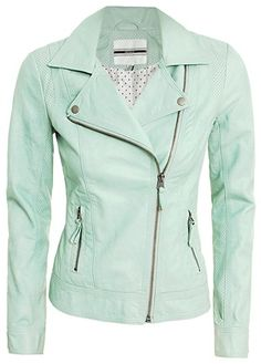 A mint green colored jacket