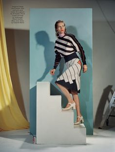 primary colour-in staged calotype: karolin wolter by mark peckmezian for anOther autumn / winter 2015