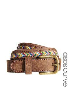 ASOS CURVE Multi Weave Vintage Look Boyfriend Waist Belt