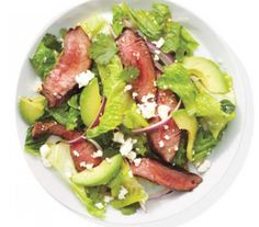 Steak Salad With Avocado and Onion! Easy recipe!