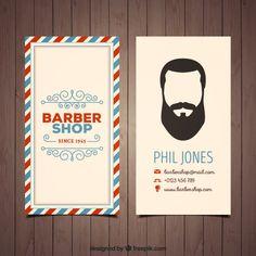 cartão de barbearia no estilo do vintage