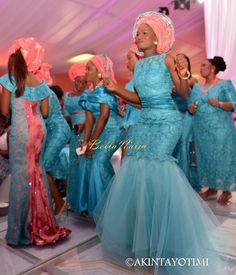 Blue Nigerian wedding bride