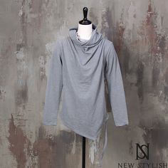 Hang strap accent turtle-neck shirts - 658