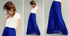 DIY: A maxi skirt on the basis of semicircle http://www.pracowniajanlesniak.pl/en/diy-a-maxi-skirt-the-basis-of-a-semicircle/