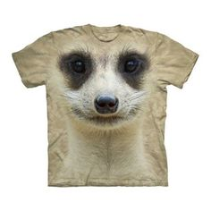 Meerkat Face Tee Adult now featured on Fab. - for the next time my Mom and Dad get back from Africa!