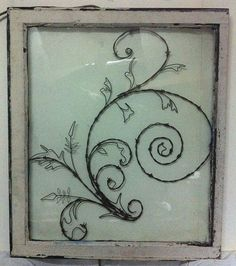 barbed wire art handcrafted | Mother Nature Swirl Hand Crafted Wall by windowzofopportunity, $210.00