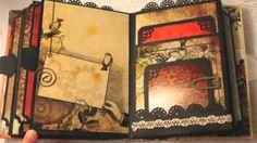STEAMPUNK BOTANICA vintage mini album, via YouTube.