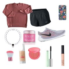 """""""Untitled #36"""" by ryleeolson on Polyvore featuring beauty, NIKE, Rifle Paper Co, Sara Happ, Benefit, NARS Cosmetics, tarte and Clinique"""