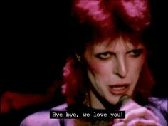 Ending of final Ziggy Stardust concert, 1973.