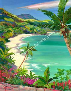 Hawksnest Beach by artist Shari Erickson