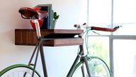 Very cool bike shelf