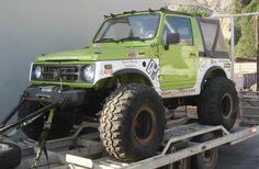 Suzuki Samurai verde con partes blancas 2JZ GTE - Pirate4x4.Com : 4x4 and Off-Road Forum