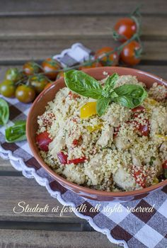 Cous cous peperoni e pollo Street Food, Feta, Estate, Grains, Picnic, Food And Drink, Cooking, Chicken, Kitchen