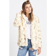 Heartloom Tess Jacket ($179) ❤ liked on Polyvore featuring outerwear, jackets, fur + faux, boyfriend jacket, white jacket, faux fur jacket, heartloom and faux jacket