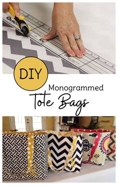 Looking for sewing projects for beginners? Make your own DIY tote bags with this free tote bag pattern. Monogram optional, but cute! via sew projects Handmade Tote Bag Pattern for an Easy DIY Tote Bag Diy Tote Bag, Tote Bags Handmade, Quilted Tote Bags, Canvas Tote Bags, Sewing Hacks, Sewing Tutorials, Sewing Tips, Sewing Patterns Free, Free Sewing