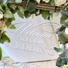 """Write It Out Loud on Instagram: """"Another pretty wedding welcome sign completed. I don't want to show the reveal until after the wedding!The vinyl just peels off without any…"""" Wedding Welcome, Our Wedding, Wedding Mirror, Out Loud, Mirrors, Writing, Signs, Pretty, Instagram"""