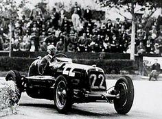 Tazio Nuvolari e a Maserati 6CM.