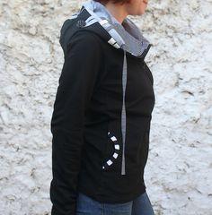 Mikina  100% bavlna - černobílá kombinace Bomber Jacket, Jackets, Art, Fashion, Down Jackets, Art Background, Moda, Fashion Styles, Kunst