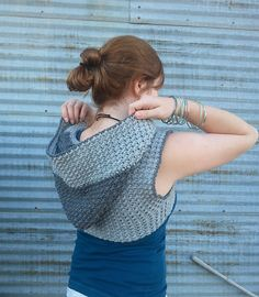 Ravelry: Hadley Hooded Shrug pattern by Lisa Jelle. Crochet this hooded shrug/bolero with Lion Brand Wool-Ease!
