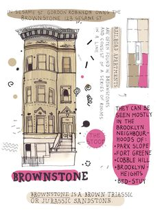all the buildings in new york > awesome project by an illustrator drawing tons of buildings throughout the city