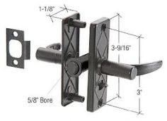 """Black Screen and Storm Door Mortise Latch 3"""" Screw Holes by TechnologyLK. $36.00. Fits Most Combination Screen and Storm Doors Non-Keyed Designed to fit most combination screen doors, this Screen and Storm Door Mortise Latch is non-keyed and will work on doors 7/8 to 1-1/4 inches (22.2 to 31.8 millimeters) thick. It has an internal lock for added security and is reversible. Installation requires a 3/4 inch (19.1 millimeter) backset. Color: Black Minimum Order: 1 Package One o... Storm Doors, Screen Doors, Black Screen, Key Design, Home Hardware, Locks, Color Black, Architecture, Fit"""