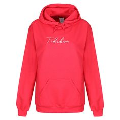 Wind down in our stylish Essence loungewear range, featuring an autograph by Tikiboo!  This watermelon coloured hoodie adds a touch of warmth and colour to your fitness wardrobe. Ideal for throwing on after your workout or for snuggling up with at home to watch Netflix.  With a white Tikiboo Essence logo to the front, a warm fleece-lined inner, front pocket and toggles on the hood, this oversized unisex (loose fit) hoodie is designed with comfort, style and warmth in mind. Comfort Style, Watch Netflix, You Fitness, Loungewear, Loose Fit, Watermelon, Babe, Touch, Gym