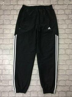 214c84031d52 ADIDAS MENS UK L BLACK 3-STRIPED CUFF STINGER TRACK PANTS ACTIVEWEAR  SPORTSWEAR #fashion