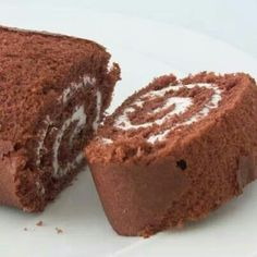 Swiss choc buttercream roll