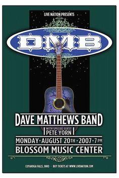 Dave Matthews Band Concert Poster, 2007