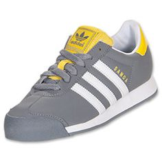 Boys' Gradeschool adidas Samoa Leather Casual Shoes